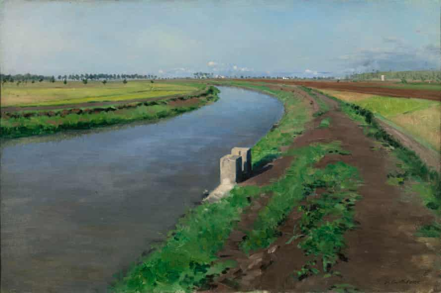 Banks of a Canal, near Naples, c. 1872 by Gustave Caillebotte.