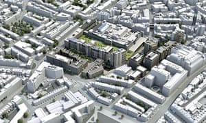 Development on the site of the Royal Mail's Mount Pleasant sorting office in central London