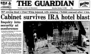 How the Guardian reported the 1984 Brighton bombing