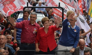 Brazilian president Dilma Rousseff waves at a campaign rally in São Paulo in September.