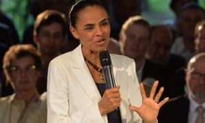 Marina Silva at a campaign meeting with supporters in Sao Paulo, Brazil