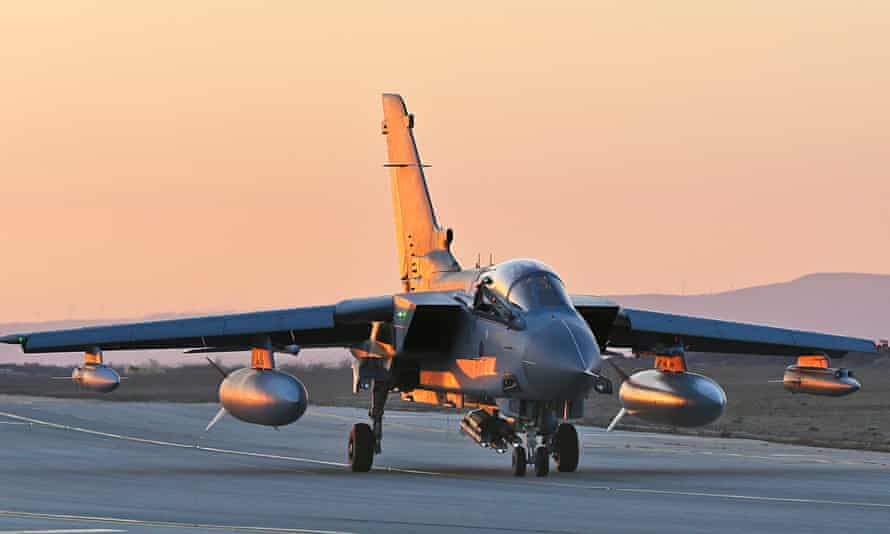 An RAF Tornado GR4 returning to RAF Akrotiri in Cyprus