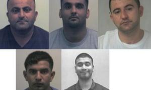 Top: Bekir Rasheed, Shakeal Rehman, Yaseen Amini and (bottom) Mohammed Shapal, Usman Ali,