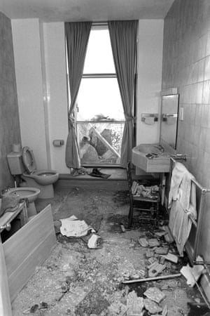 Debris in Margaret Thatcher's Napoleon suite bathroom