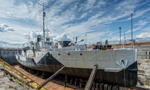 HMS M.33, the only surviving ship from the Gallipoli campaign in the first world war, which is to be opened to the public for the first time.