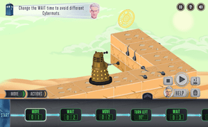 The Doctor and the Dalek's puzzles are based on the new computing curriculum in England.
