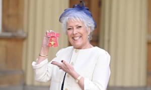 Lynda Bellingham receives her OBE at Buckingham Palace