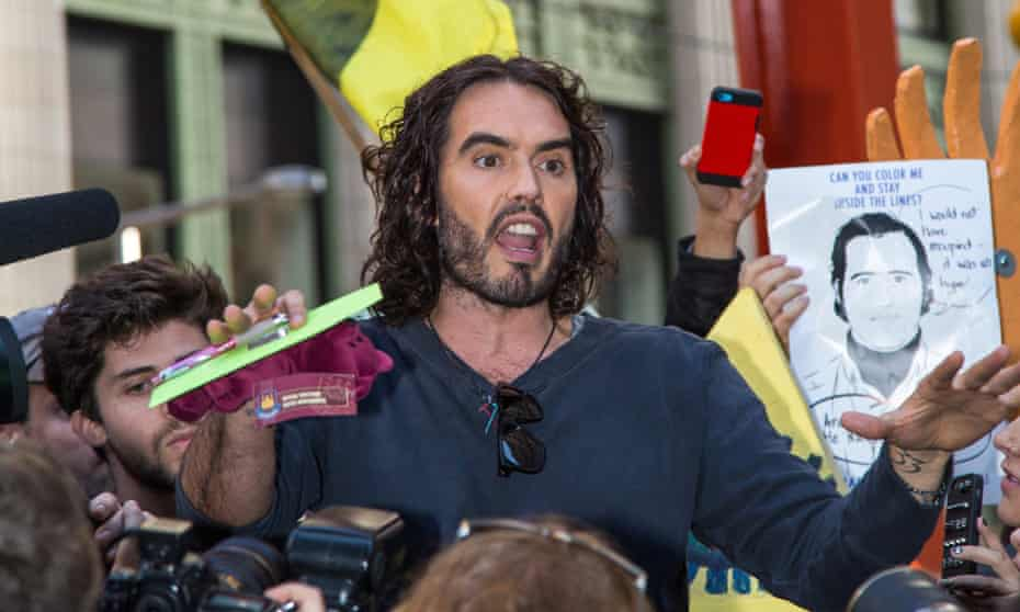 Russell Brand visits Occupy Wall Street: a 'bogus revolutionary', said Piers Morgan