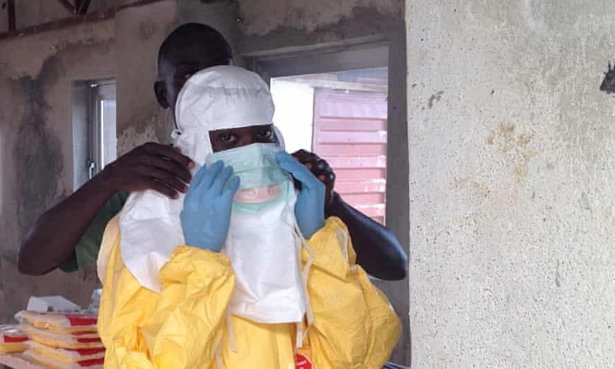 An Ebloa treatment centre near Bo town, Sierra Leone