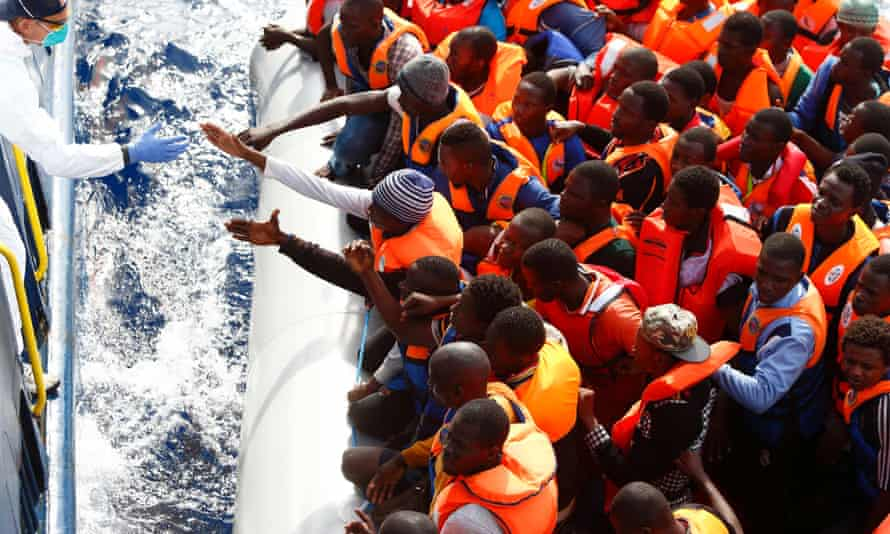 A rescue mission off the coast of Libya, October 2014