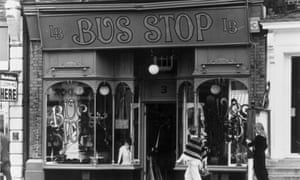 8th October 1970:  The Fashionable Bus Stop boutique in Kensington Church Street, London.