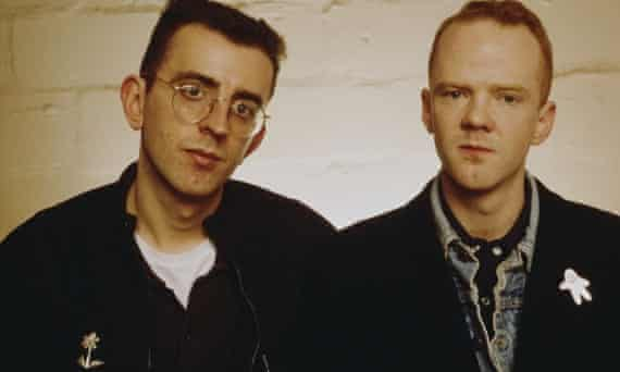 Richard Coles (left) and Jimmy Somerville as the Communards, around 1987