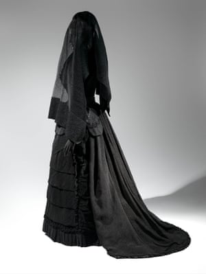 Mourning ensemble from the 1870s.