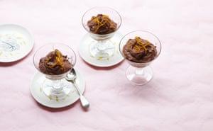Chocolate-orange mousse: booze optional.
