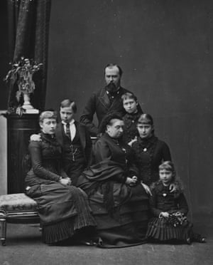 Queen Victoria after the death of her daughter, Princess Alice, with Alice's husband and children.