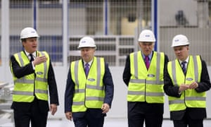 (From the left) David Cameron; president of Ford Europe, Middle East and Africa, Stephen Odell; Vince Cable; and chairman and managing director Ford Britain, Mark Overden