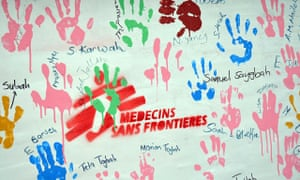 Hand prints and signatures of survivors