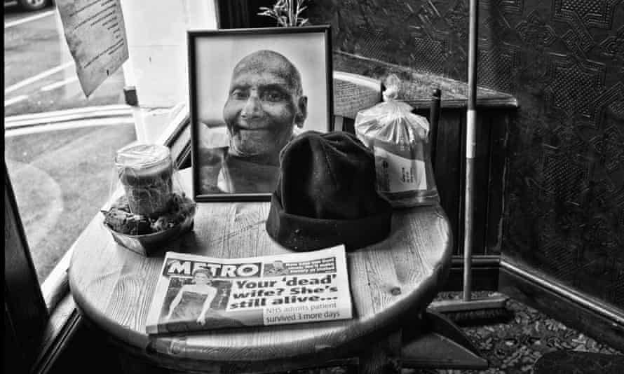 Memorial for Doc at the Olde Rose. Photograph: Sarah Lee for the Guardian
