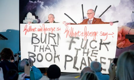 Gilbert and George at the Extinction Marathon