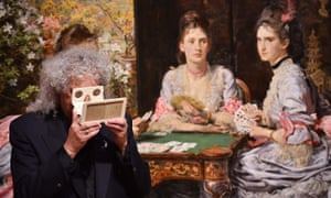 British musician Brian May poses with an