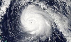 NASA's Aqua satellite image of Hurricane Gonzalo