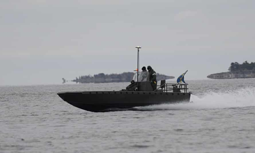 Swedish naval forces hunt for a suspected foreign submarine off the Stockholm coast, 18 October 2014