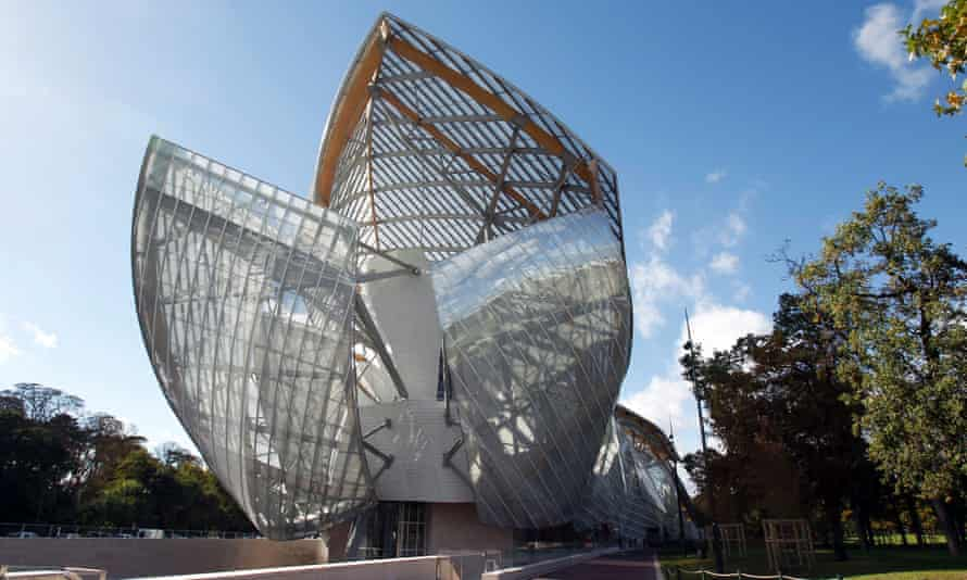 Nautical theme … Frank Gehry's Fondation Louis Vuitton is covered in 12 billowing glass sails.
