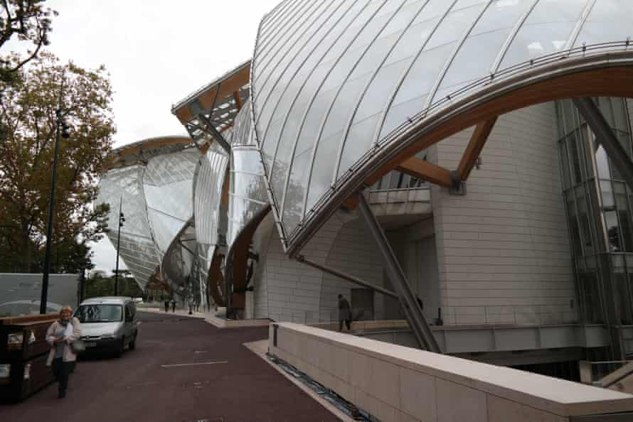 Shattered shell … the glass sails split open to reveal the white concrete structures within.