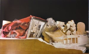 Where it all went wrong? … A model of the Lewis House, 1995, which saw Gehry make the move into supple, sculptural forms.