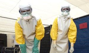 ebola doctors looking