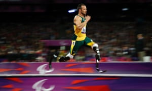 Oscar Pistorius at the 2012 Paralympics in London.