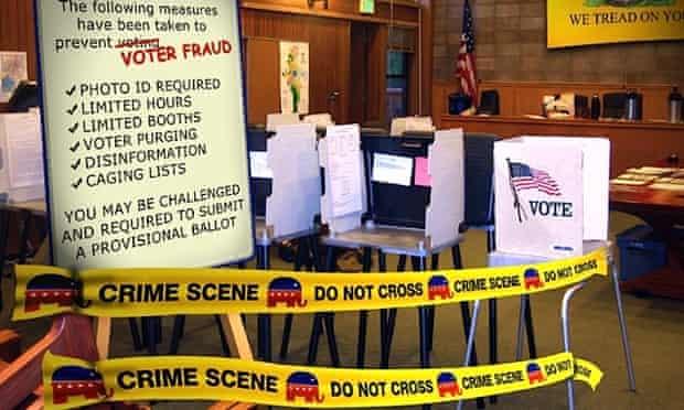 voting rights republican crime scene