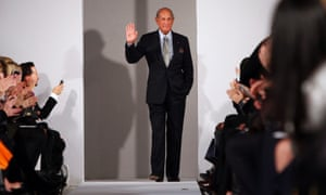 Oscar de la Renta is seen during his Fall/Winter 2012 collection show during New York Fashion Week in this February 14, 2012