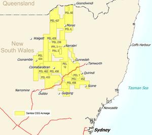 Santos NSW map