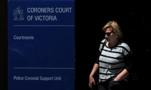 Rosie Batty leaves the Coroners Court of Victoria in Melbourne on Tuesday.