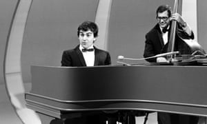Dudley Moore at the piano