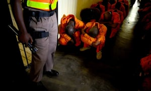 A prison cell inside the Pretoria Central prison during a surprise raid by prison officials checking for drugs and other contraband.