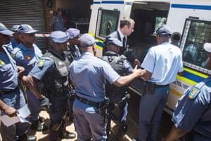 Oscar Pistorius on his way to prison.