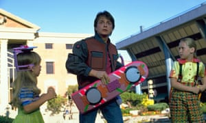 Marty McFly gets a hoverboard in Back to The Future II in 1989, set in October 2015. Now you can get a hoverboard - though not for skating.