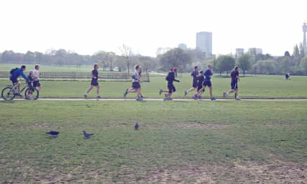 The Swimmers running in Hyde Park