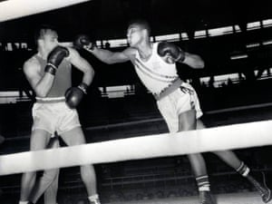 Clay fights for the USA at the 1960 Olympic Games in Rome, Italy.