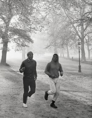 Ali is joined by Cleveland Browns legend Jim Brown during his morning road work.