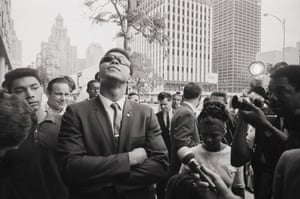 Ali looks skyward as he leaves court in Houston after a federal judge tossed out his last legal effort to avoid being drafted into the army. Ali refused to fight in Vietnam on account of his religious beliefs.