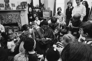 Ali visits a children's home in Notting Hill, London.