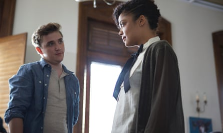 Kyle Gallner and Tessa Thompson in Dear White People.