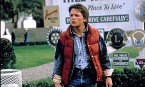 Michael J Fox as Marty McFly in Back to the Future.