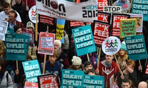Student protest against rise in tuition fees