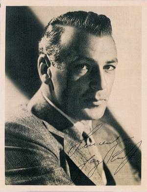A signed photograph of Gary Cooper
