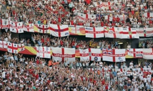 England fans at the 2006 World Cup game against Paraguay in Frankfurt.