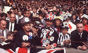 England fans watch the team's victory over West Germany in the 1966 World Cup final